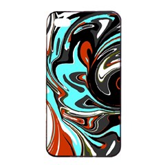 Abstract In Aqua, Orange, And Black Apple Iphone 4/4s Seamless Case (black)