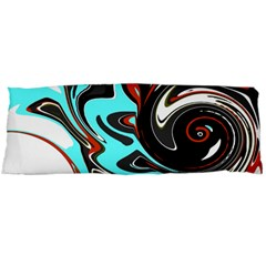 Abstract in Aqua, Orange, and Black Body Pillow Cases Dakimakura (Two Sides)
