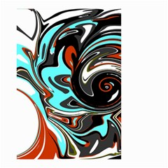 Abstract in Aqua, Orange, and Black Small Garden Flag (Two Sides)