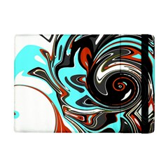 Abstract In Aqua, Orange, And Black Apple Ipad Mini Flip Case
