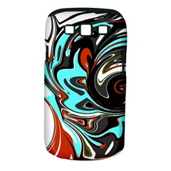Abstract in Aqua, Orange, and Black Samsung Galaxy S III Classic Hardshell Case (PC+Silicone)