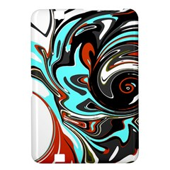 Abstract In Aqua, Orange, And Black Kindle Fire Hd 8 9