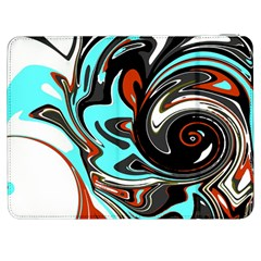 Abstract in Aqua, Orange, and Black Samsung Galaxy Tab 7  P1000 Flip Case