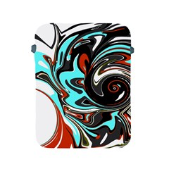 Abstract In Aqua, Orange, And Black Apple Ipad 2/3/4 Protective Soft Cases