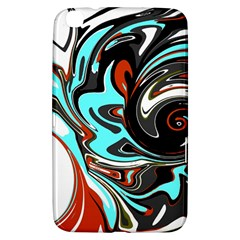 Abstract in Aqua, Orange, and Black Samsung Galaxy Tab 3 (8 ) T3100 Hardshell Case