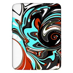 Abstract in Aqua, Orange, and Black Samsung Galaxy Tab 3 (10.1 ) P5200 Hardshell Case
