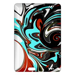 Abstract In Aqua, Orange, And Black Kindle Fire Hd (2013) Hardshell Case