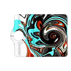 Abstract In Aqua, Orange, And Black Kindle Fire Hd (2013) Flip 360 Case
