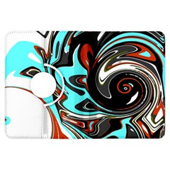 Abstract In Aqua, Orange, And Black Kindle Fire Hdx Flip 360 Case