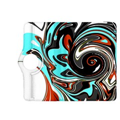 Abstract In Aqua, Orange, And Black Kindle Fire Hdx 8 9  Flip 360 Case