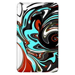 Abstract In Aqua, Orange, And Black Samsung Galaxy Tab Pro 8 4 Hardshell Case