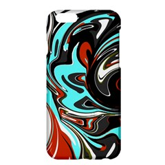 Abstract in Aqua, Orange, and Black Apple iPhone 6 Plus Hardshell Case
