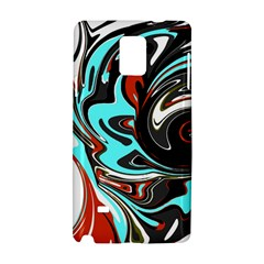 Abstract in Aqua, Orange, and Black Samsung Galaxy Note 4 Hardshell Case