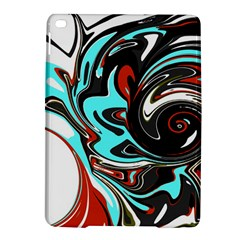 Abstract in Aqua, Orange, and Black iPad Air 2 Hardshell Cases