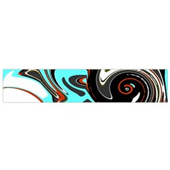 Abstract in Aqua, Orange, and Black Flano Scarf (Small)