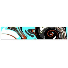 Abstract In Aqua, Orange, And Black Flano Scarf (large)