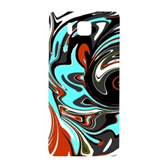 Abstract in Aqua, Orange, and Black Samsung Galaxy Alpha Hardshell Back Case