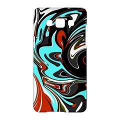 Abstract in Aqua, Orange, and Black Samsung Galaxy A5 Hardshell Case
