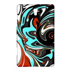 Abstract In Aqua, Orange, And Black Samsung Galaxy Tab S (8 4 ) Hardshell Case