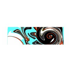 Abstract in Aqua, Orange, and Black Satin Scarf (Oblong)