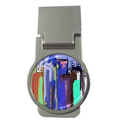 Abstract City Design Money Clips (round)