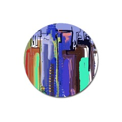 Abstract City Design Magnet 3  (round)