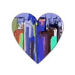 Abstract City Design Heart Magnet