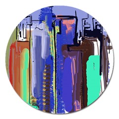 Abstract City Design Magnet 5  (round)