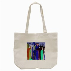 Abstract City Design Tote Bag (cream)