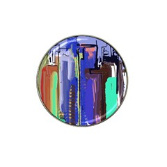 Abstract City Design Hat Clip Ball Marker (10 pack)