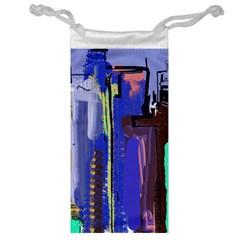 Abstract City Design Jewelry Bags