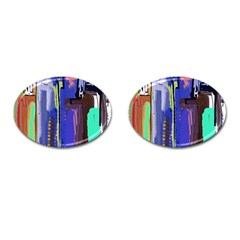 Abstract City Design Cufflinks (oval)