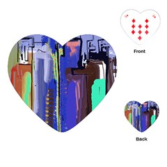 Abstract City Design Playing Cards (Heart)