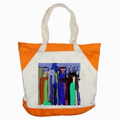 Abstract City Design Accent Tote Bag