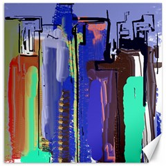 Abstract City Design Canvas 12  X 12