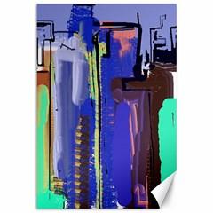 Abstract City Design Canvas 12  x 18