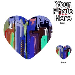 Abstract City Design Multi-purpose Cards (Heart)