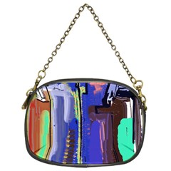 Abstract City Design Chain Purses (two Sides)