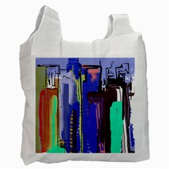 Abstract City Design Recycle Bag (two Side)