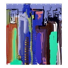 Abstract City Design Shower Curtain 66  x 72  (Large)