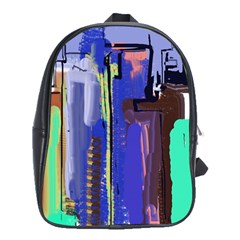 Abstract City Design School Bags(large)