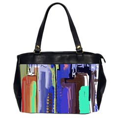 Abstract City Design Office Handbags (2 Sides)