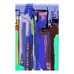 Abstract City Design Shower Curtain 48  x 72  (Small)