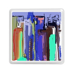 Abstract City Design Memory Card Reader (Square)