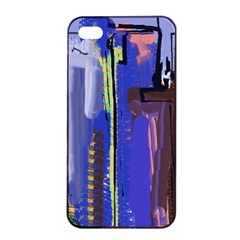 Abstract City Design Apple iPhone 4/4s Seamless Case (Black)