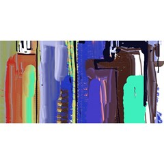 Abstract City Design You Are Invited 3d Greeting Card (8x4)