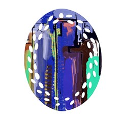 Abstract City Design Ornament (oval Filigree)