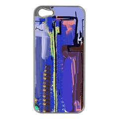 Abstract City Design Apple Iphone 5 Case (silver)