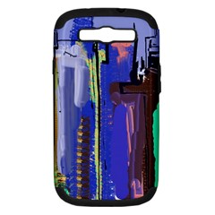 Abstract City Design Samsung Galaxy S III Hardshell Case (PC+Silicone)