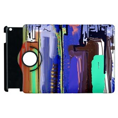 Abstract City Design Apple Ipad 3/4 Flip 360 Case